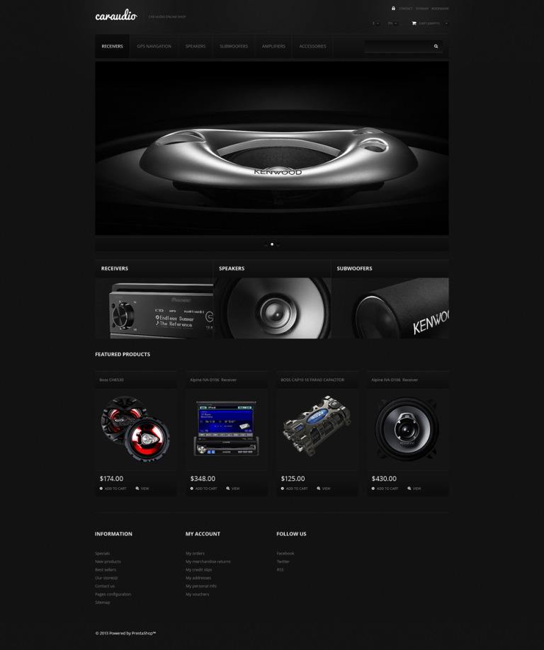Car Audio Systems PrestaShop Theme New Screenshots BIG