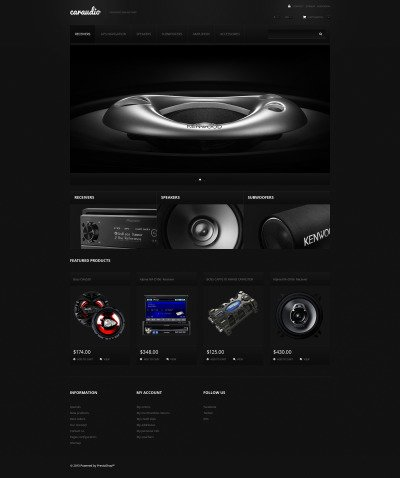 Car Audio Systems PrestaShop Theme