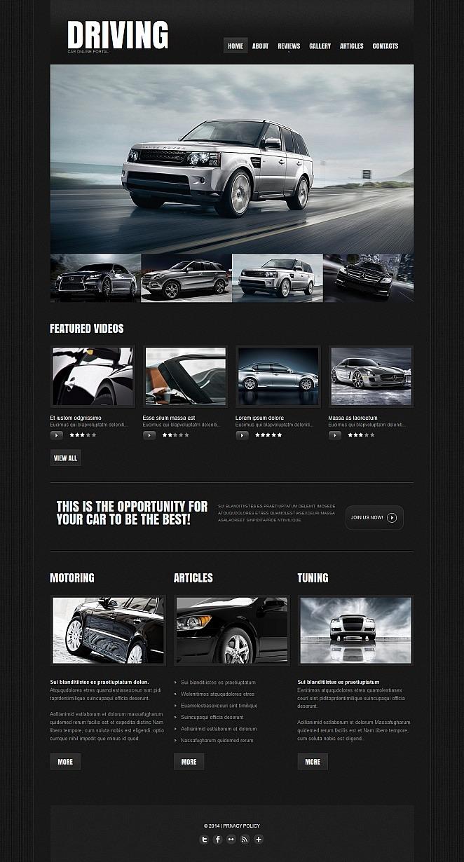 Car Club Moto CMS HTML Template New Screenshots BIG