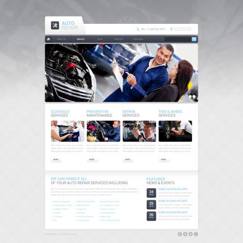 Auto Repair - HTML5 Drupal Template