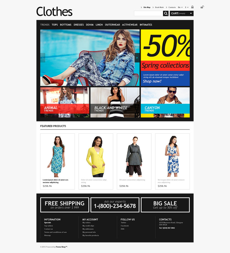 Clothes for Choosy Women PrestaShop Theme New Screenshots BIG