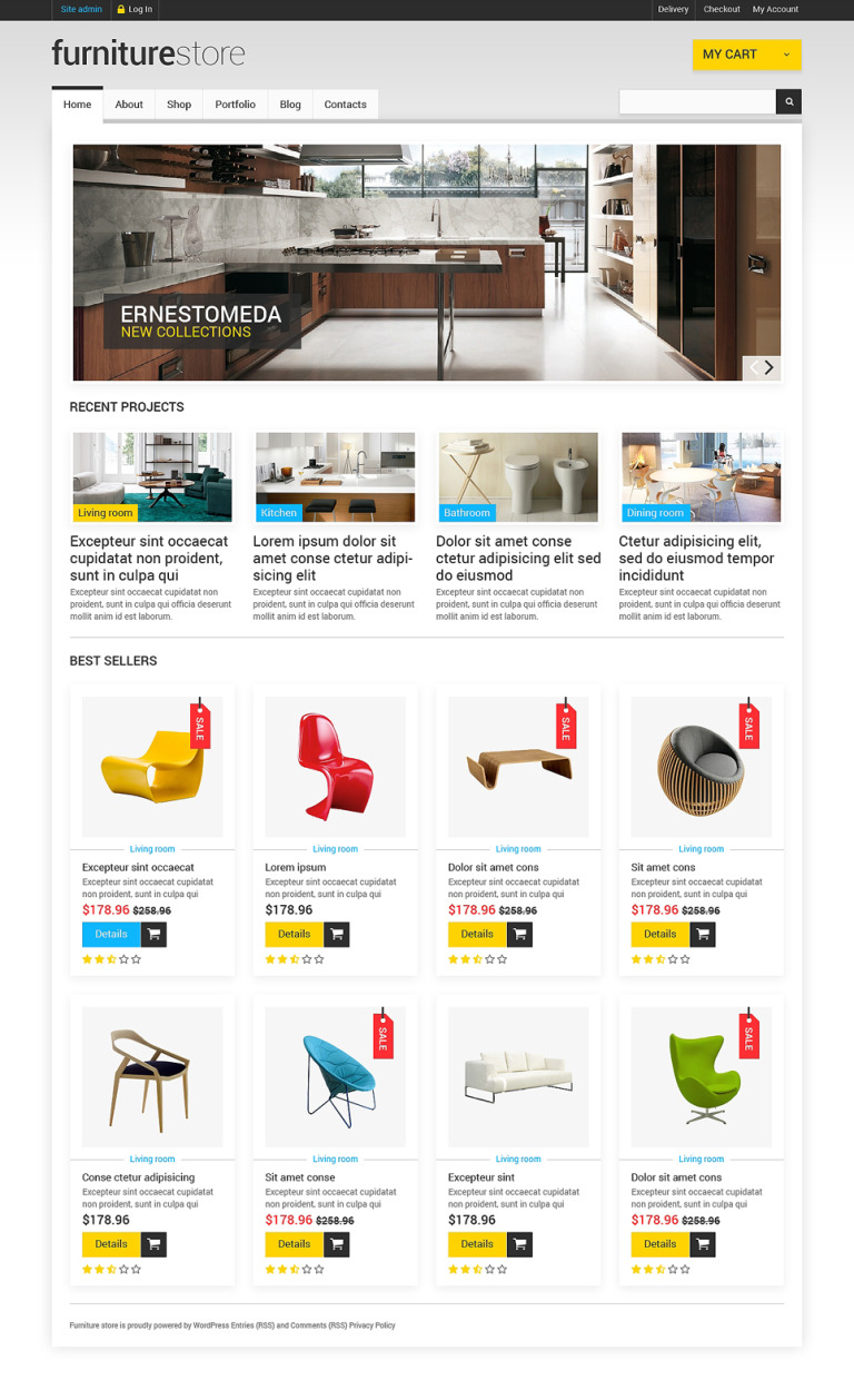 Comfortable Furniture WooCommerce Theme New Screenshots BIG