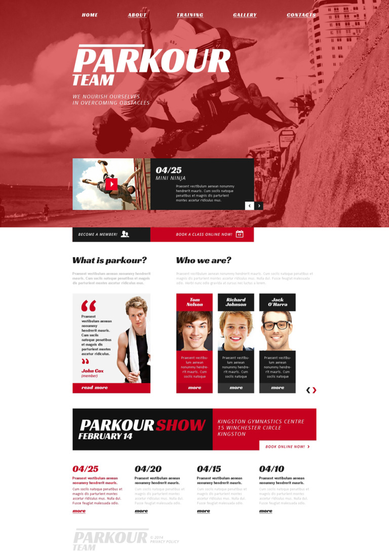 Extreme Sports Responsive Website Template New Screenshots BIG