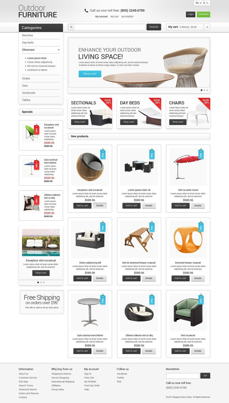Furniture for Your Garden Magento Theme New Screenshots BIG