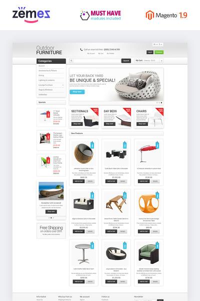 Flexível tema Magento №47678 para Sites de Designs de Jardim