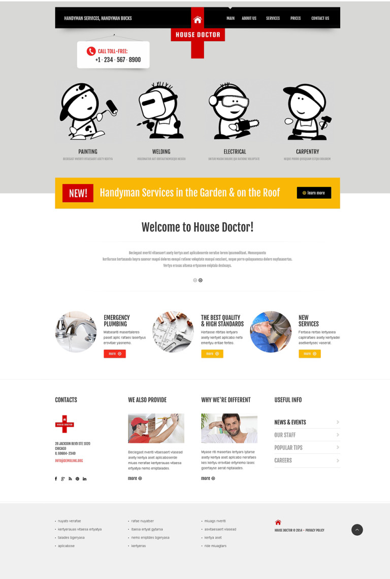 Home Repairs Responsive Website Template New Screenshots BIG