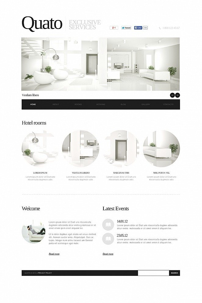 Hotels Flash CMS Template New Screenshots BIG