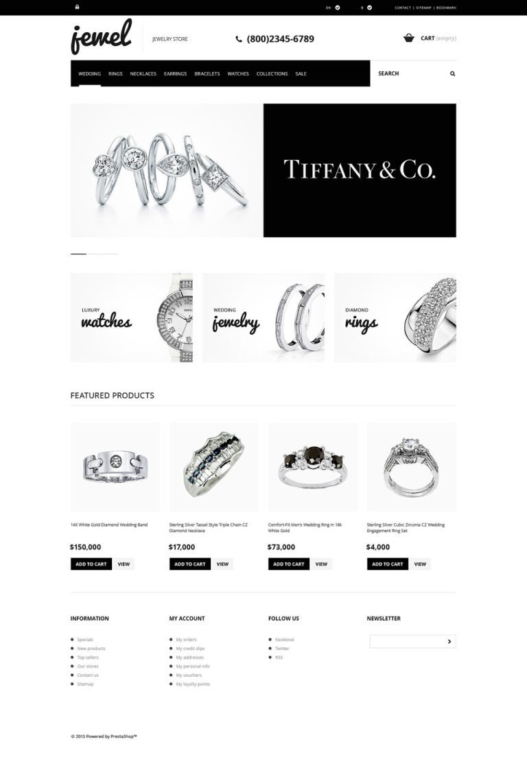 Jewelry Boutique PrestaShop Theme New Screenshots BIG