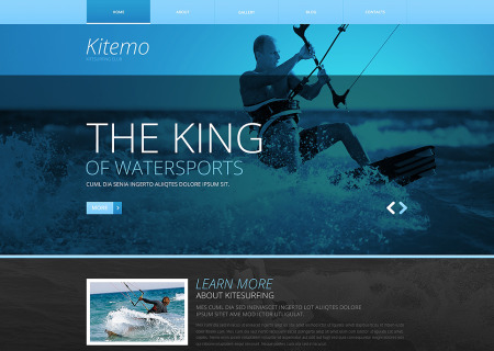 Kitesurfing Responsive