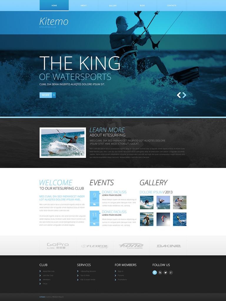 Kitesurfing Responsive Website Template New Screenshots BIG