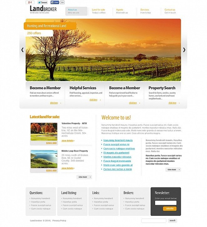 Land Broker Flash CMS Template New Screenshots BIG