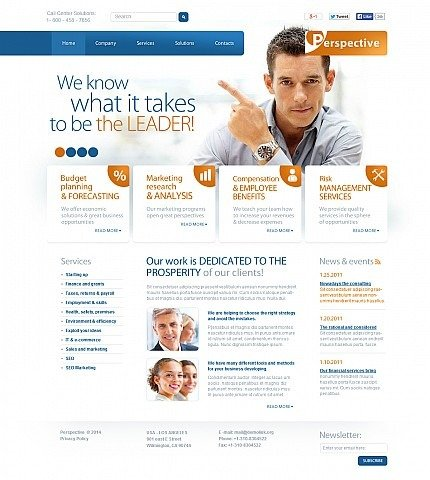 Marketing Agency Flash CMS Template MotoCMS