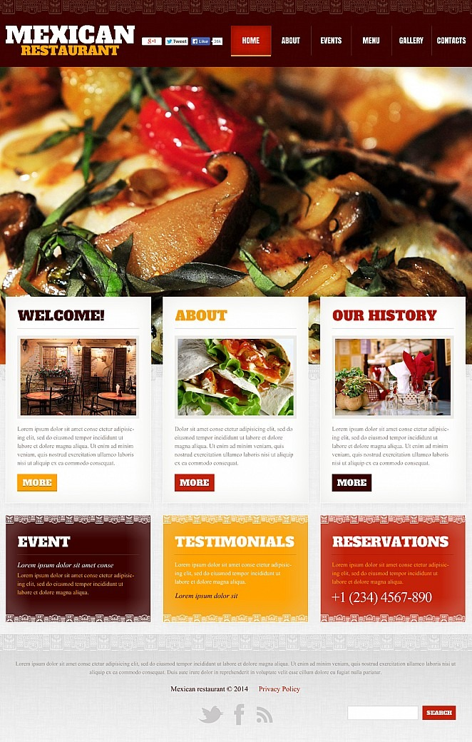 Mexican Restaurant Flash CMS Template New Screenshots BIG