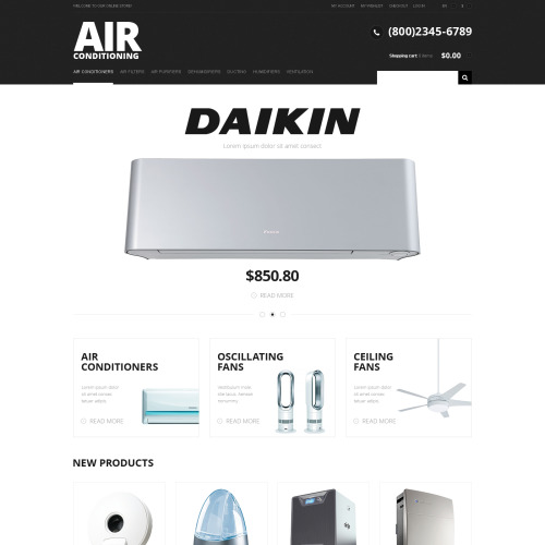 Air Conditioning - Responsive Magento Template