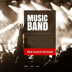 music band website templates