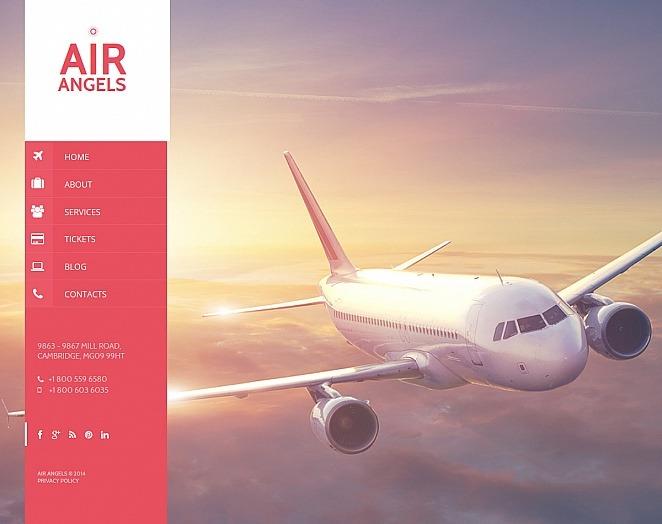 Plantilla Moto CMS HTML #47654 para Sitio de Aerolínea privada New Screenshots BIG