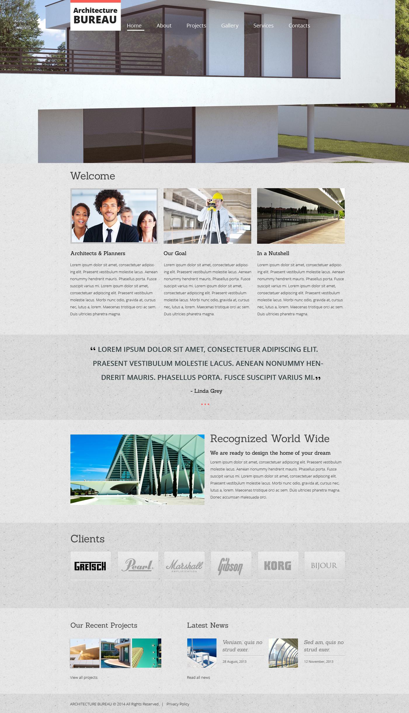 Plantilla web 47692 para sitio de empresas de construcci n for Empresas construccion