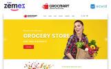 Plantilla Web para Sitio de Tienda de Comestibles