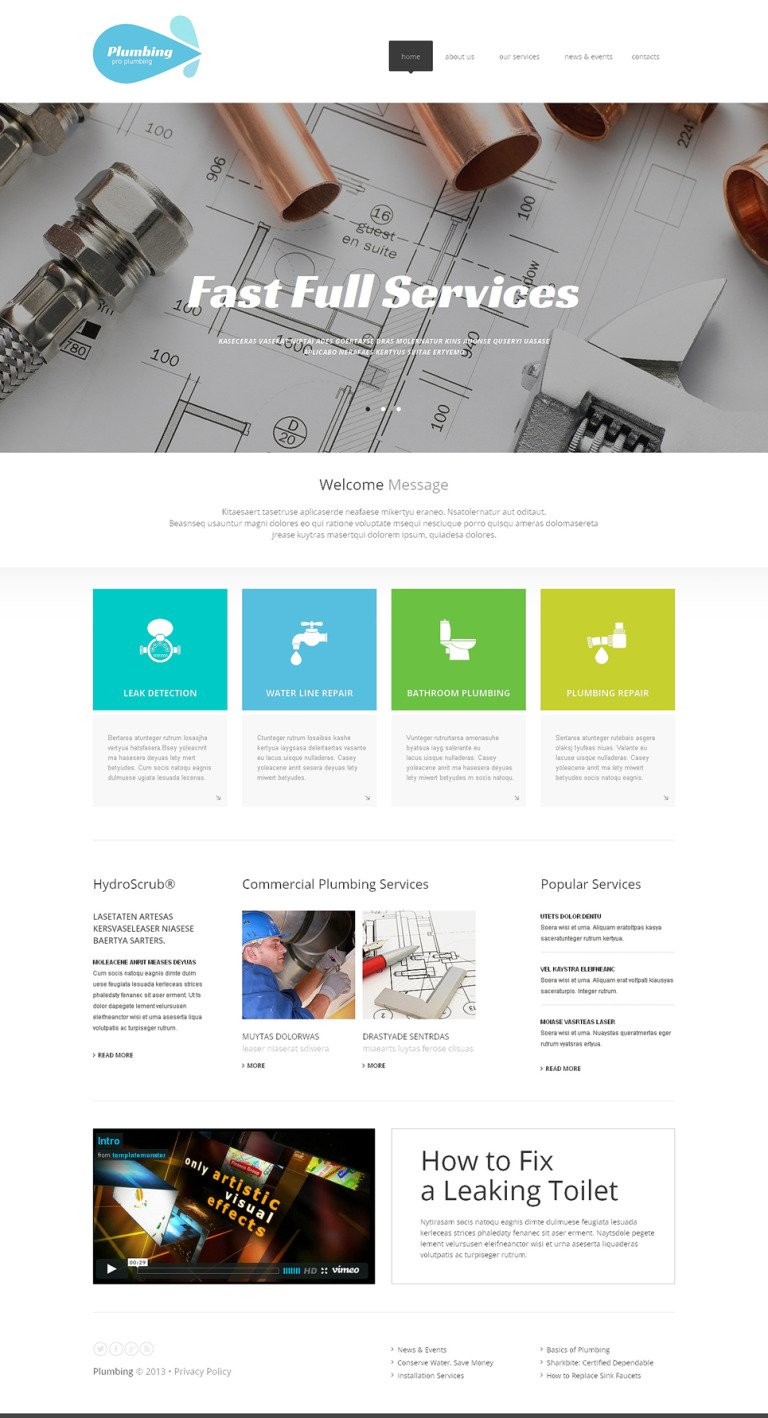 Plumbing Pro Website Template New Screenshots BIG