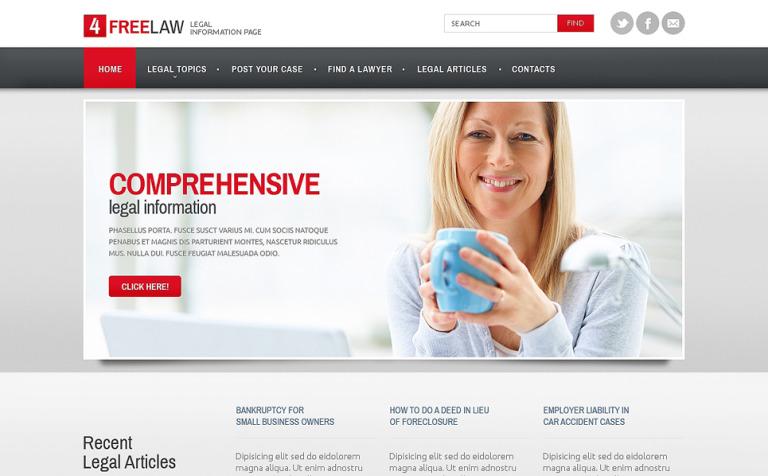Website Vorlage #47671 für Rechtsanwalt