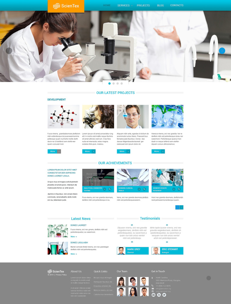 Science Lab Responsive Website Template New Screenshots BIG