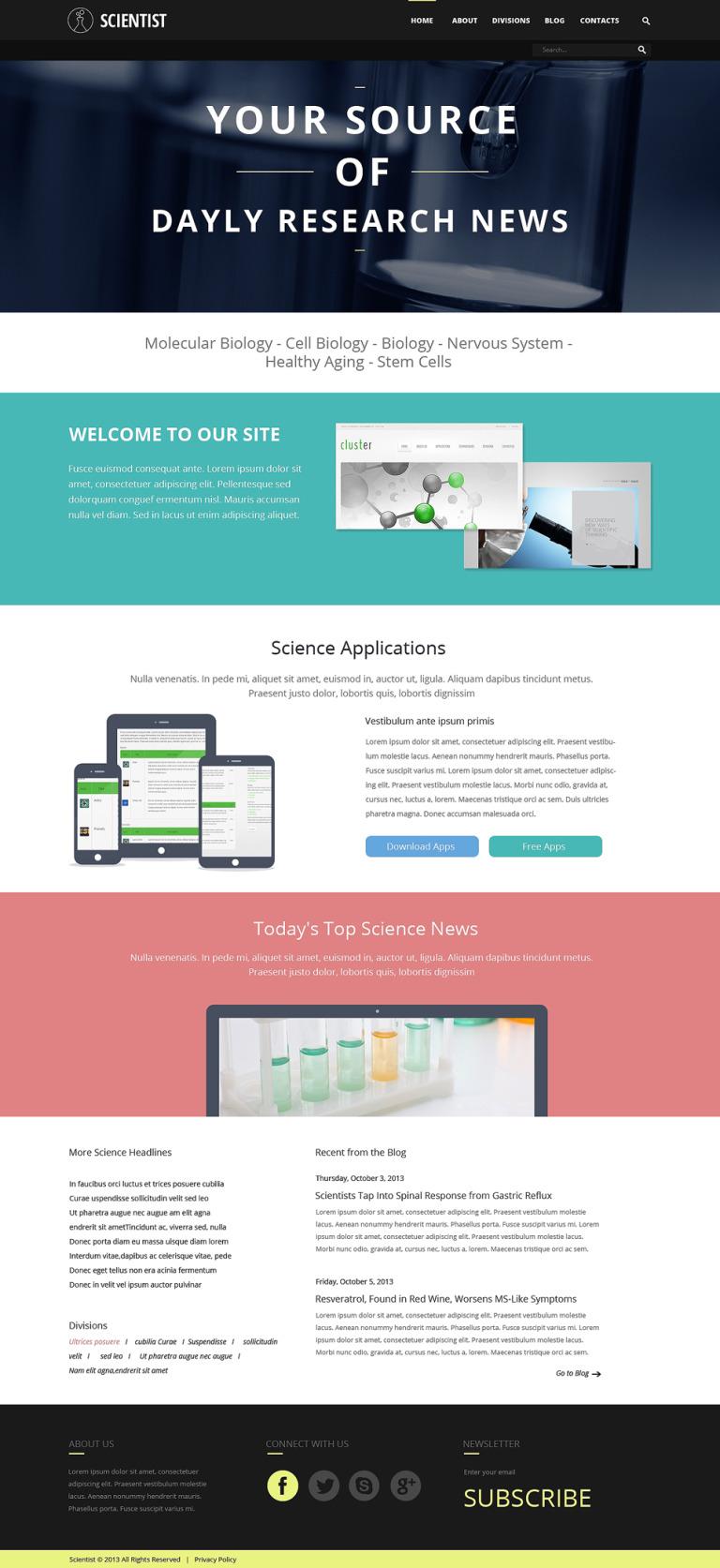 Science Organization Joomla Template New Screenshots BIG