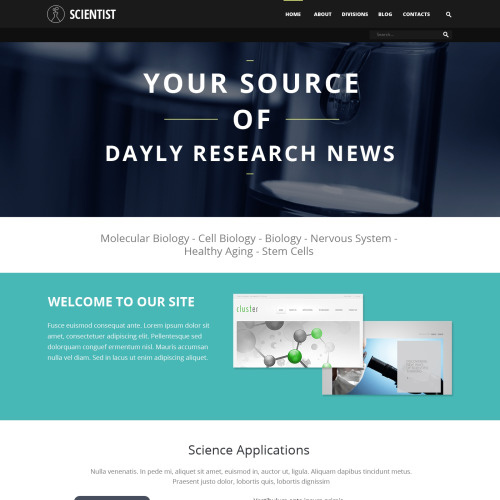 Scientist - Joomla! Template based on Bootstrap