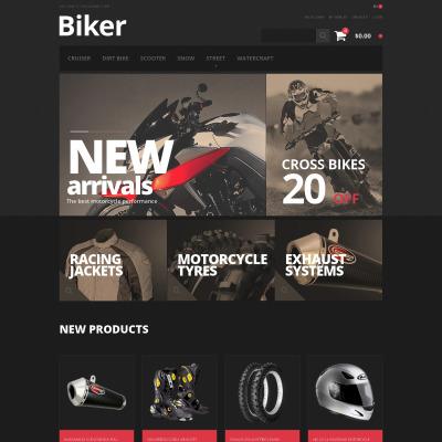 Responsive Tema Magento #47672 para Sitio de  para Sitio de Clubes de motos