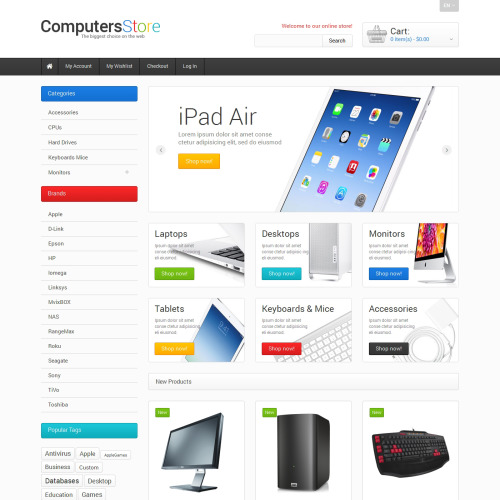 The  Computers Store - Responsive Magento Template
