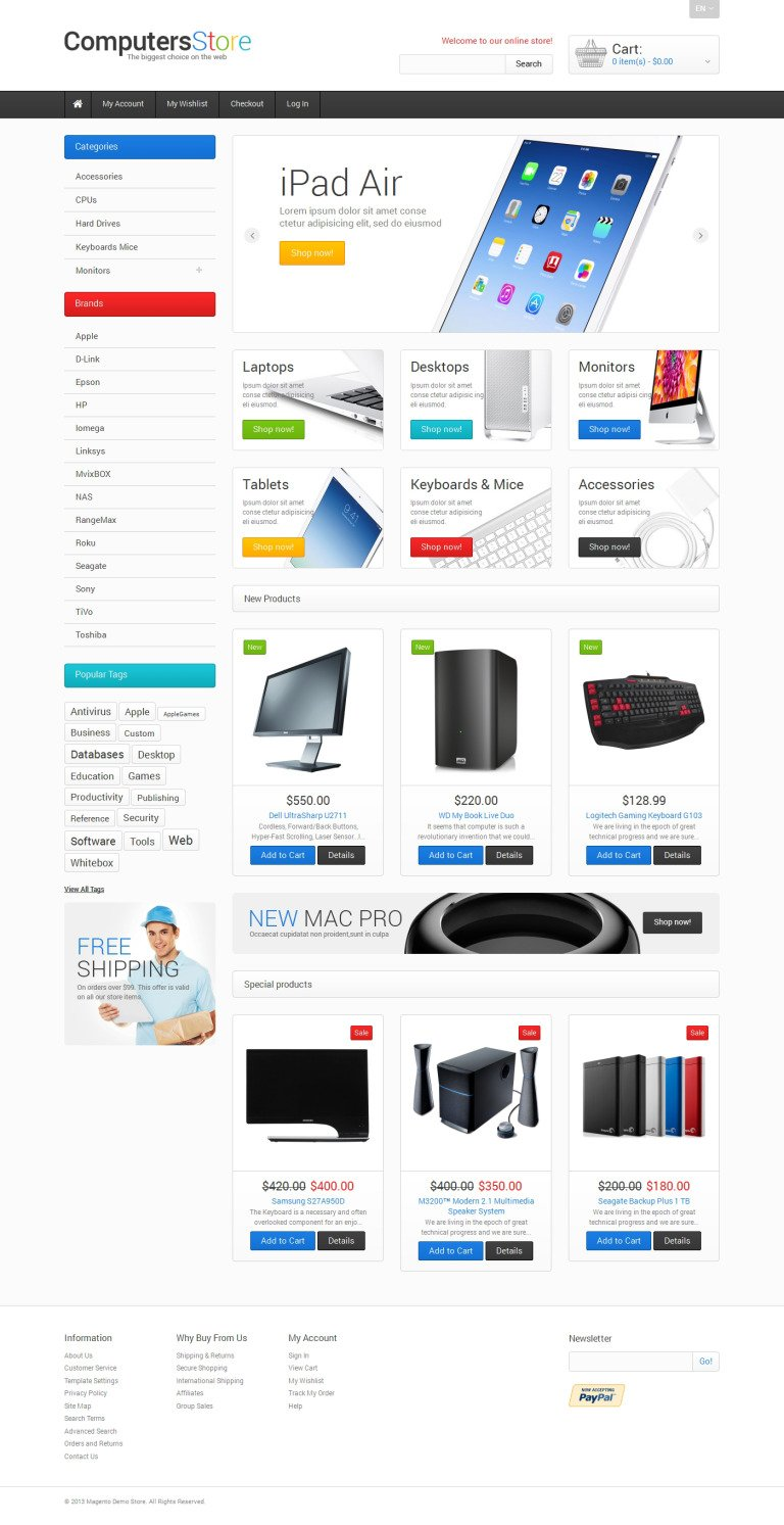The Biggest Computers Store Magento Theme New Screenshots BIG