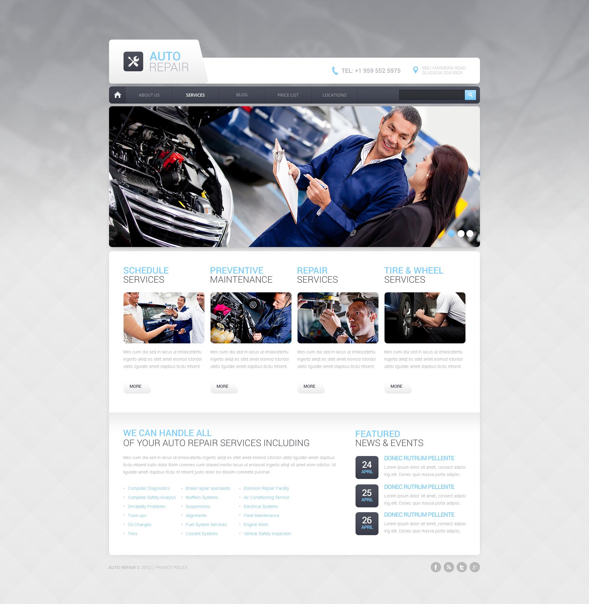 Thème Drupal pour site de réparation de voitures #47608 - screenshot