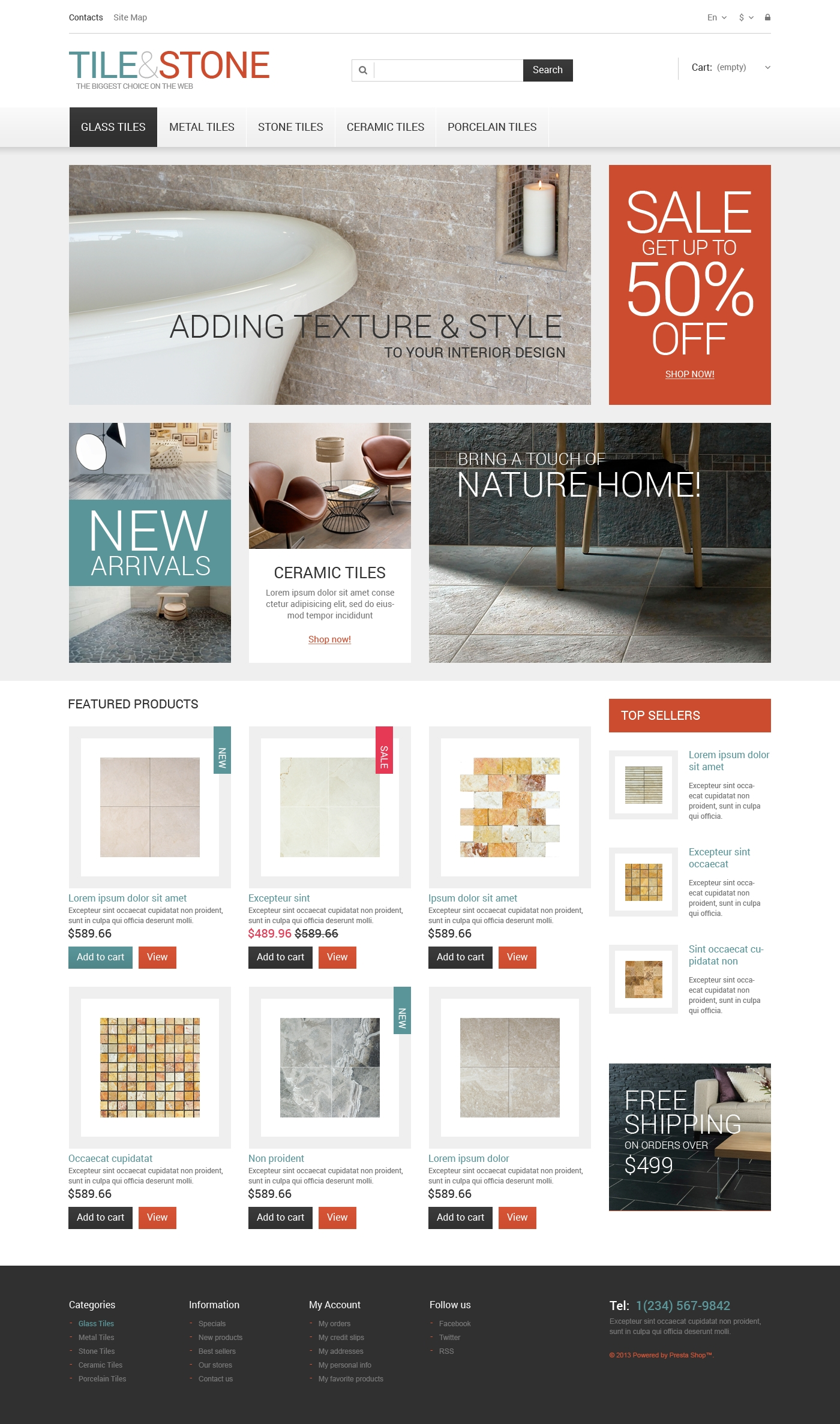 Tile Stone Prestashop Theme 47682