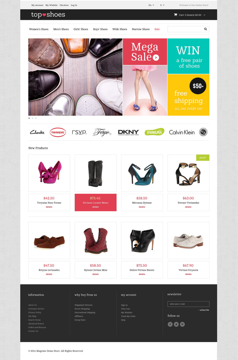 Top Shoes Shop Magento Theme New Screenshots BIG