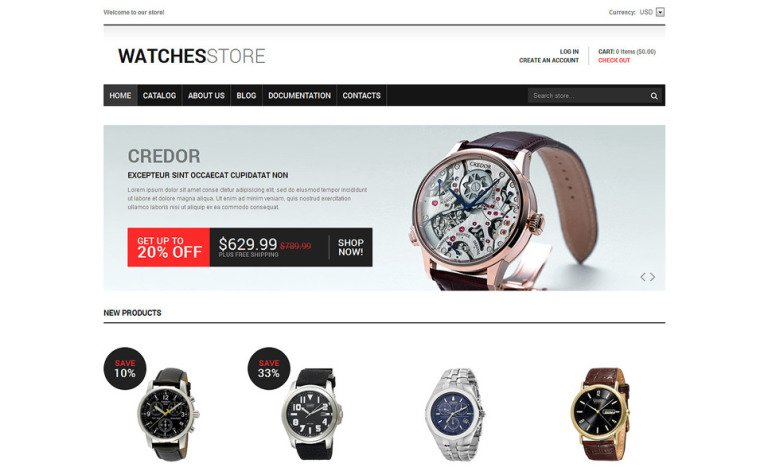 Watches Responsive Shopify Theme #47699