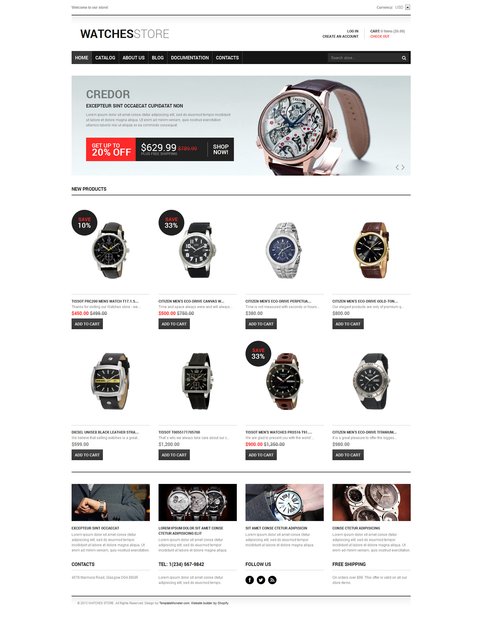 Watches Responsive Shopify Theme