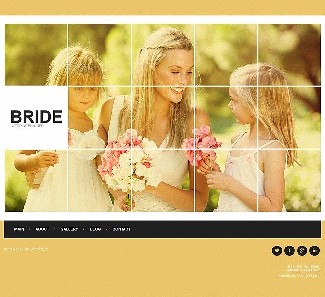 Wedding Planner Moto CMS HTML Template New Screenshots BIG