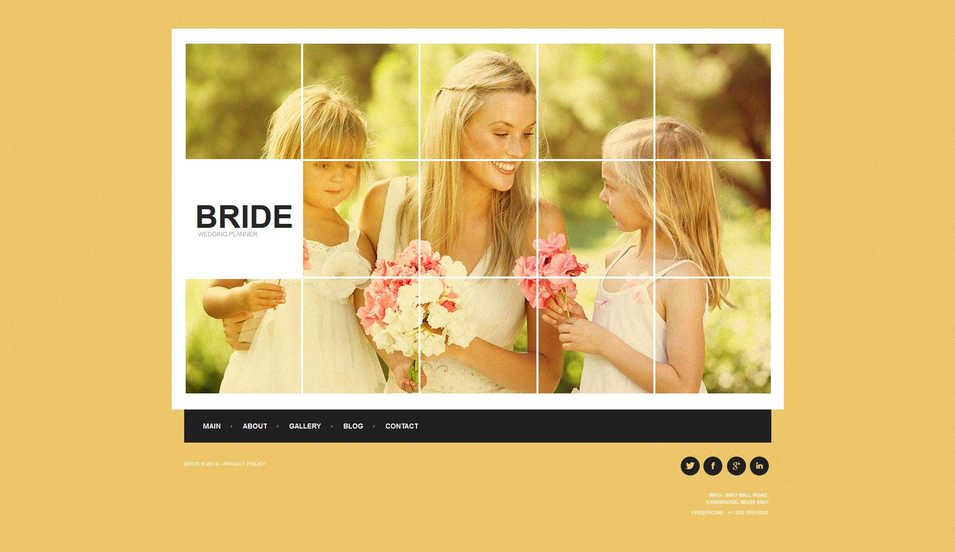 Wedding Planner Moto CMS HTML Template