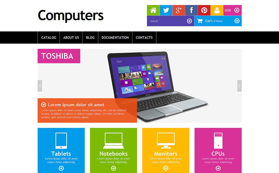 Responsive Shopify Thema over Computer Winkel  New Screenshots BIG