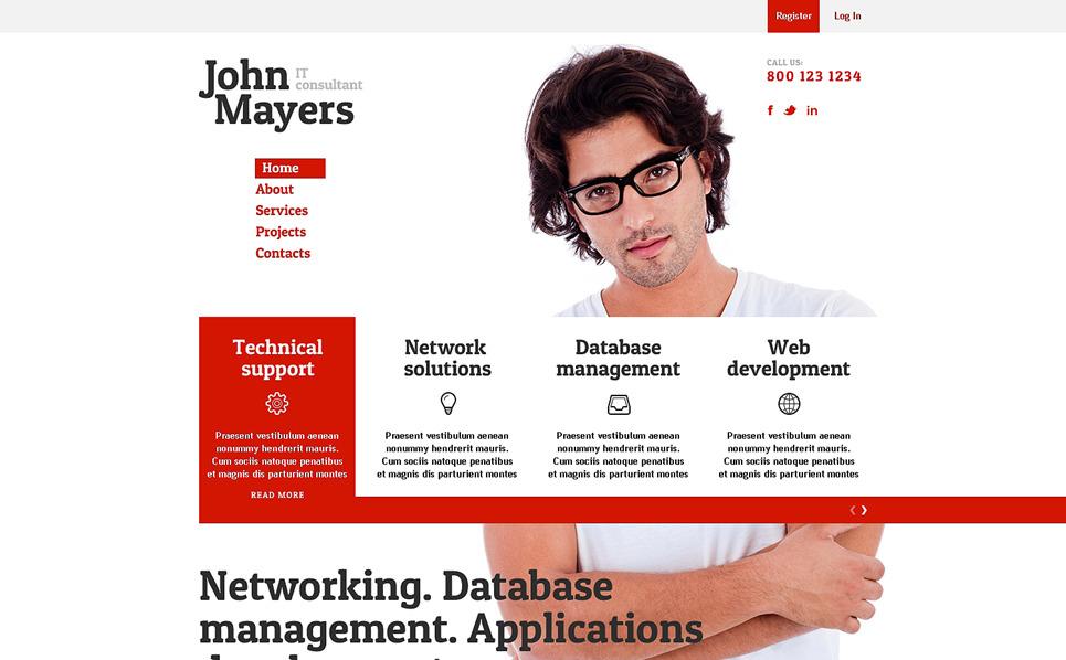 Responzivní Šablona webových stránek na téma Informační technologie New Screenshots BIG