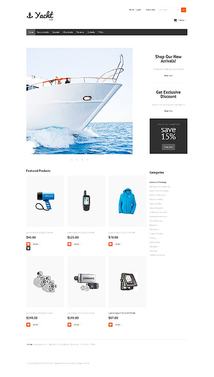 ZenCart Template 47708 Main Page Screenshot