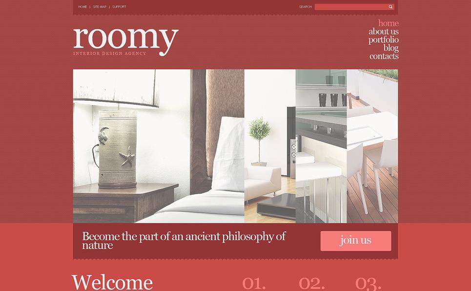 Responzivní WordPress motiv na téma Design interiéru New Screenshots BIG