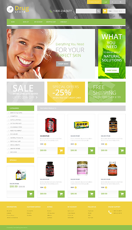 ADOBE Photoshop Template 47717 Home Page Screenshot