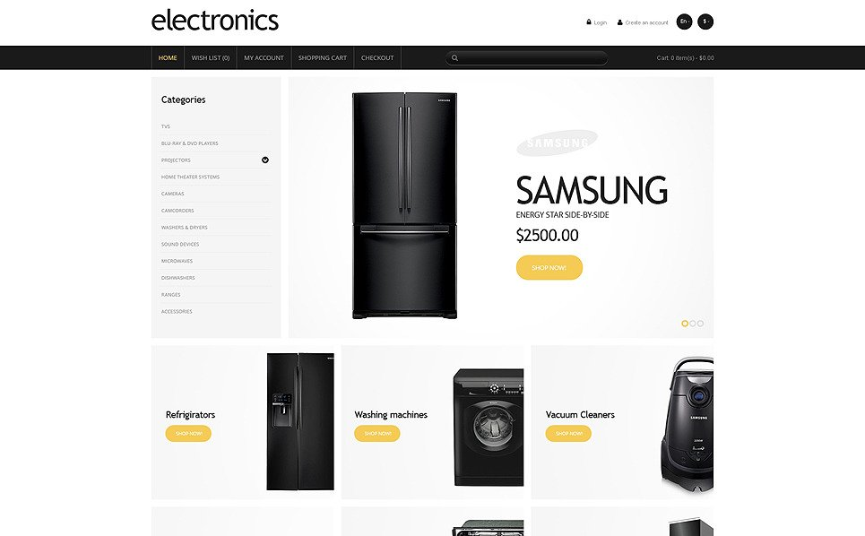 Template OpenCart Responsive #47719 per Un Sito di Negozio di Elettronica New Screenshots BIG