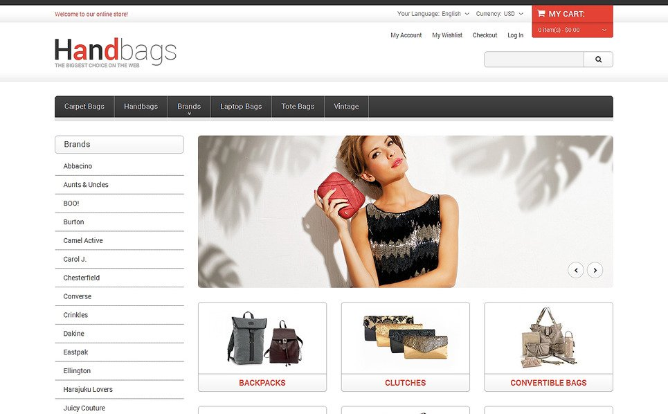 Thème Magento adaptatif  pour magasin de sacs à main New Screenshots BIG