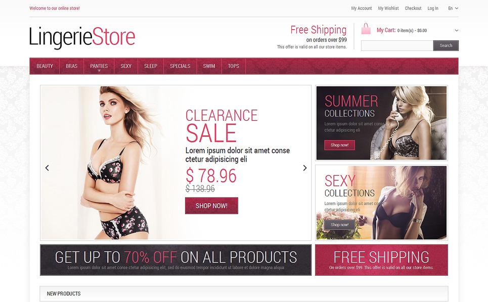 Responzivní Magento motiv na téma Spodní prádlo New Screenshots BIG
