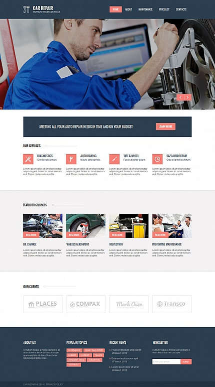 ADOBE Photoshop Template 47724 Home Page Screenshot