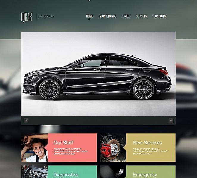 Szablon Moto CMS HTML #47725 na temat: naprawa samochodów New Screenshots BIG