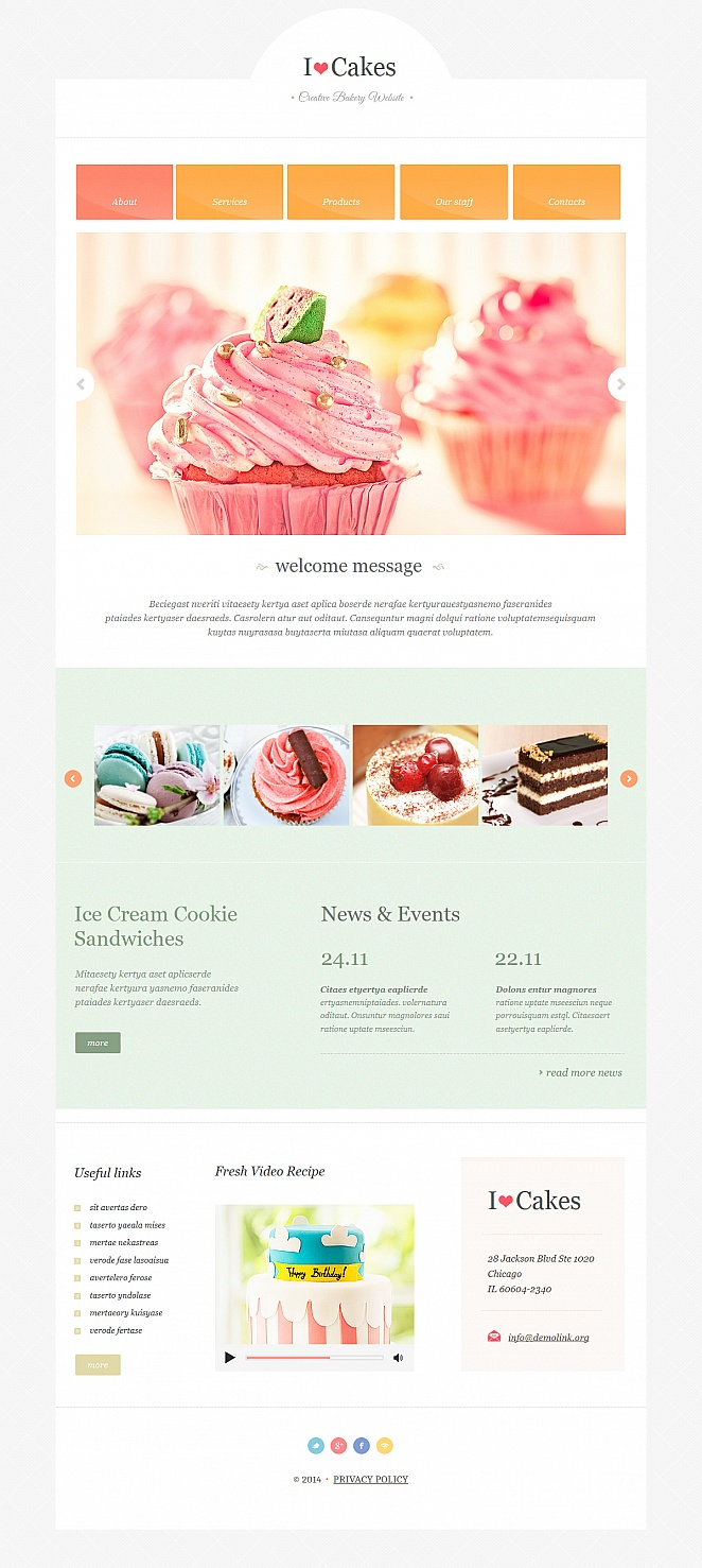 Creative Bakery Web Template with Tasty Pictures - image