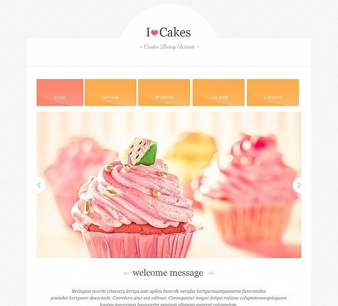 Luxusní Moto CMS HTML šablona na téma Pekařství New Screenshots BIG