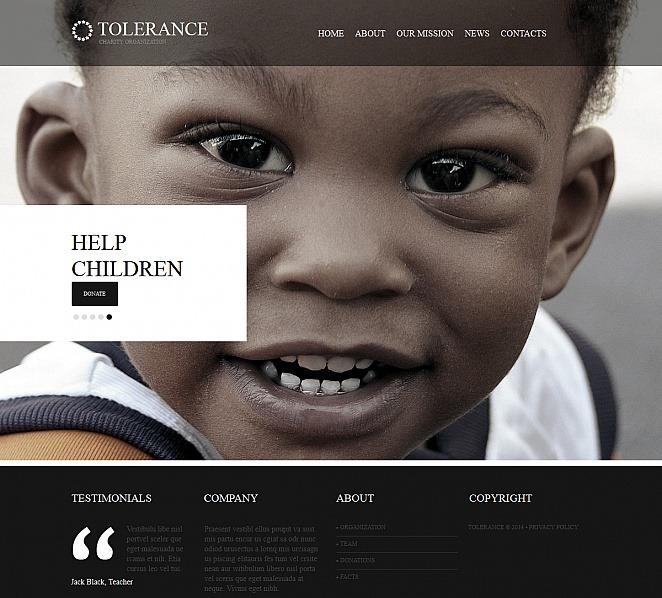Modello Moto CMS HTML  #47729 per Un Sito di Beneficenza per Bambini New Screenshots BIG